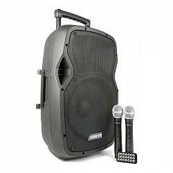Vonyx AP1200PA mobilní PA zařízení 30 cm (12 '') bluetooth USB SD MP3 VHF nabíjecí baterie