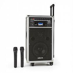 Vonyx ST-100 MK2, přenosný PA audio systém, bluetooth, CD, USB, SD, MP3, akumulátor, UKV