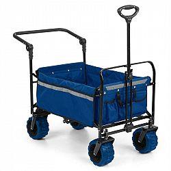 Waldbeck Easy Rider, tahací vozík, do 70 kg, teleskopická tyč, sklopný, modrý