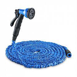 Waldbeck Flex 22, flexibilní zahradní hadice, 8 funkcí, 22.5 m, modrá
