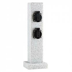 Waldbeck Granite Power, sloup s elektrickými zásuvkami, 4 zásuvky, 3500 W, PE vzhled kamene