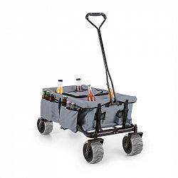 Waldbeck Greyjoy, ruční vozík, skládací, 68 kg, boční kapsy, šedý