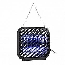 Waldbeck Skyfall SQ, lapač hmyzu, 16 W, 50 m², LED diody, sběrná nádoba, řetěz, černý