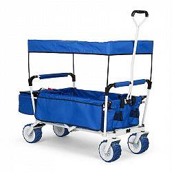 Waldbeck The Blue Supreme, ruční vozík, skládací, 68 kg, stříška proti slunci