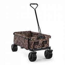 Waldbeck The Camou, ruční vozík, skládací, 70 kg, 90 l, kola Ø 10 cm, maskáčový