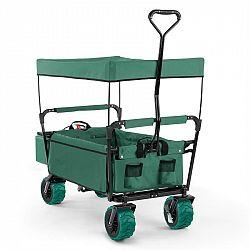 Waldbeck The Green Supreme, ruční vozík, skládací, 68 kg, stříška proti slunci