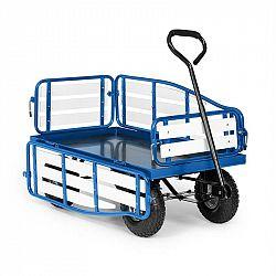 Waldbeck Ventura, ruční vozík, maximální zátěž 300 kg, ocel, WPC, modrý