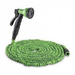 Waldbeck Water Wizard 15, flexibilní zahradní hadice, 8 funkcí, 15 m, zelená